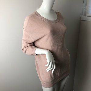 Wilfred Blush Pink Light Pullover Sweater L Silk